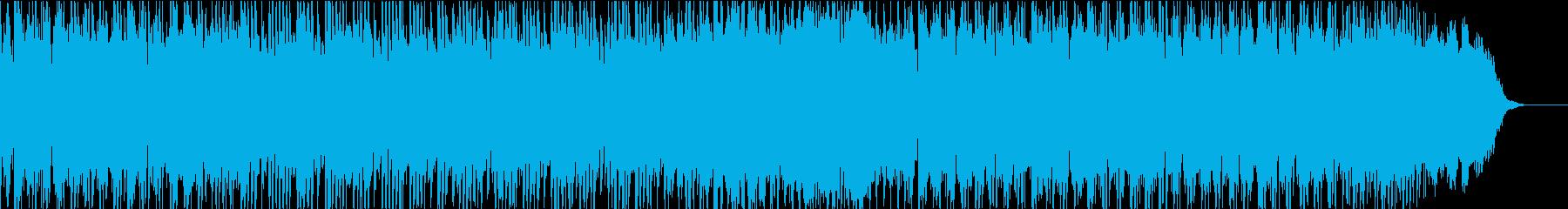 パワフルで疾走感のあるロックの再生済みの波形
