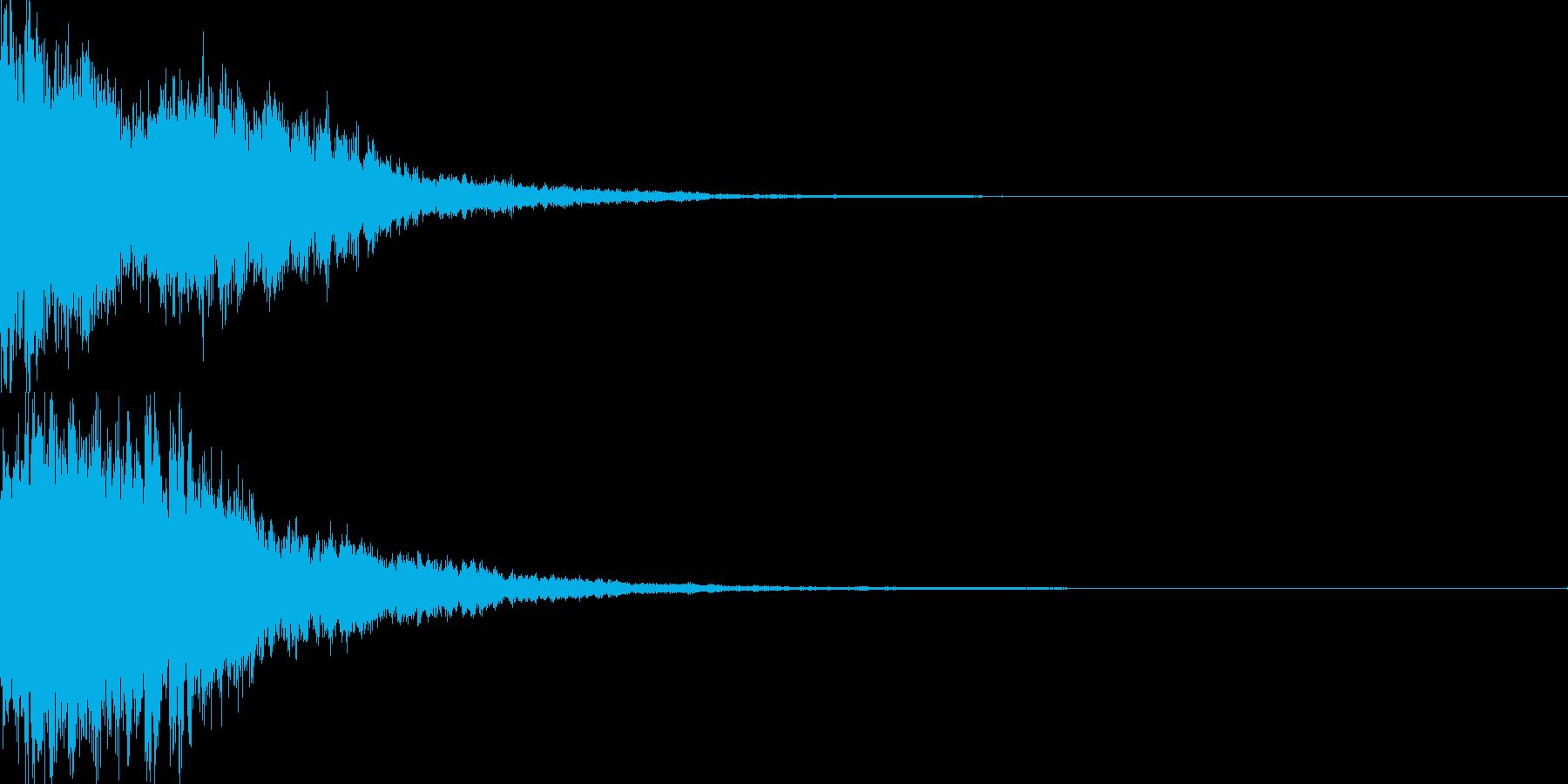 決定音57_シンセZの再生済みの波形
