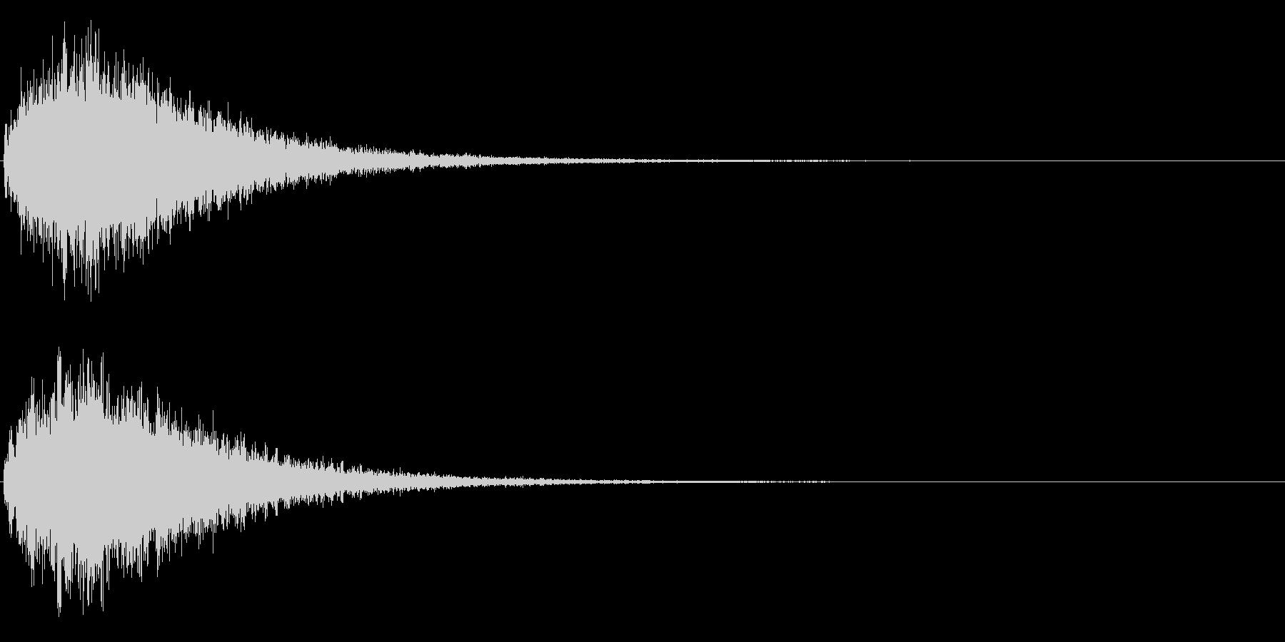 ゲームスタート、決定、ボタン音-133の未再生の波形