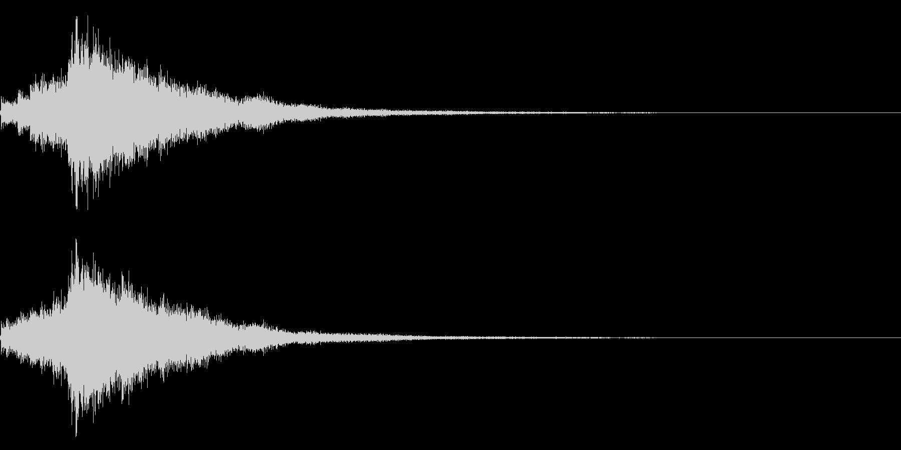 琴と刀の【シャキーン!】和風ロゴ 12の未再生の波形