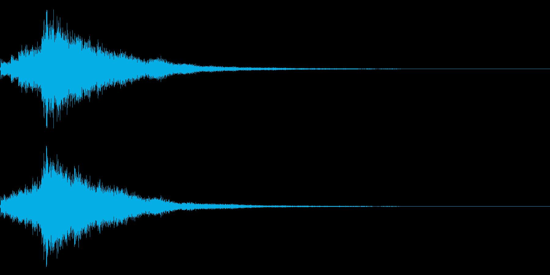 琴と刀の【シャキーン!】和風ロゴ 12の再生済みの波形