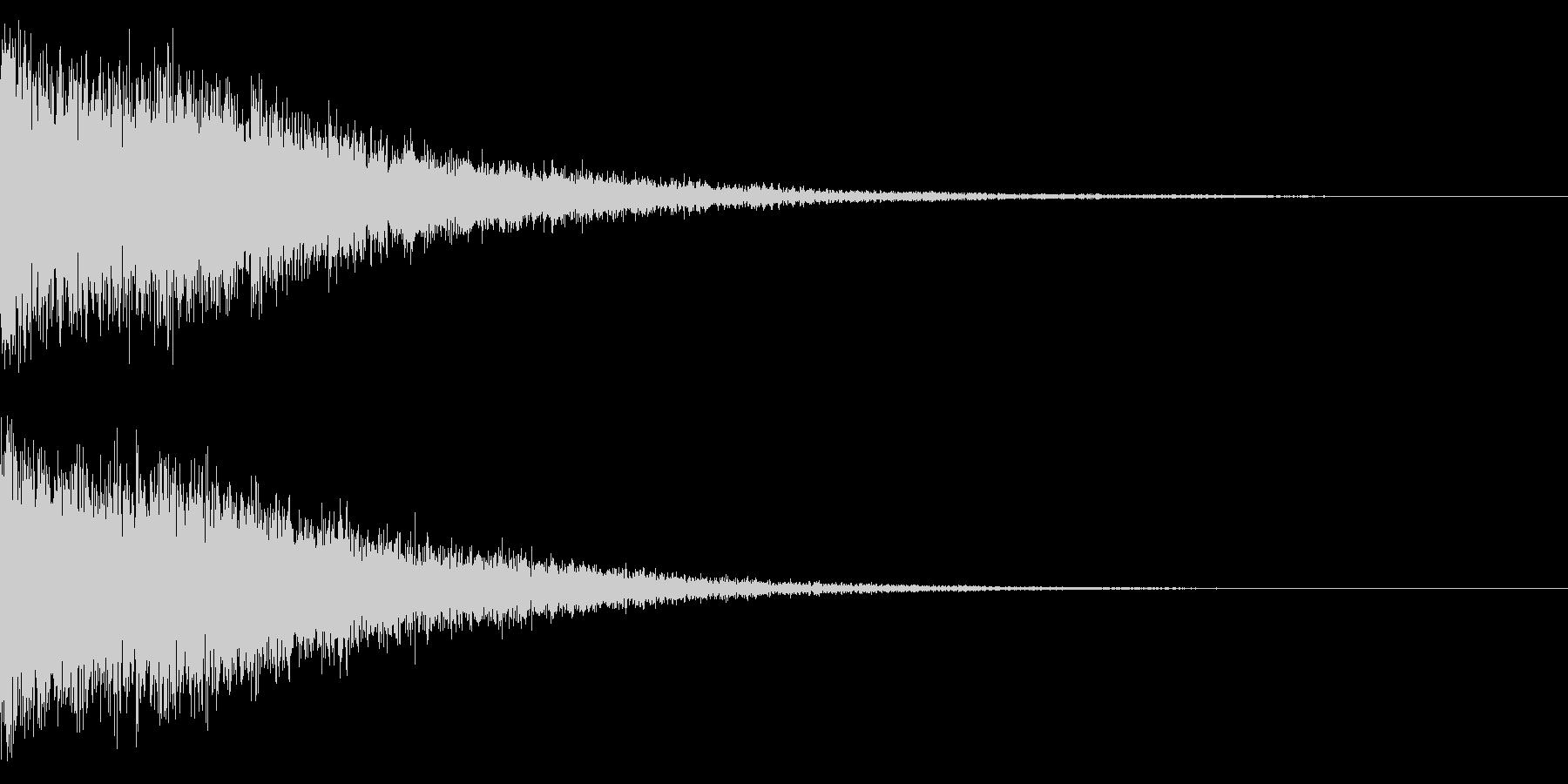 ホラー系アタック音18の未再生の波形