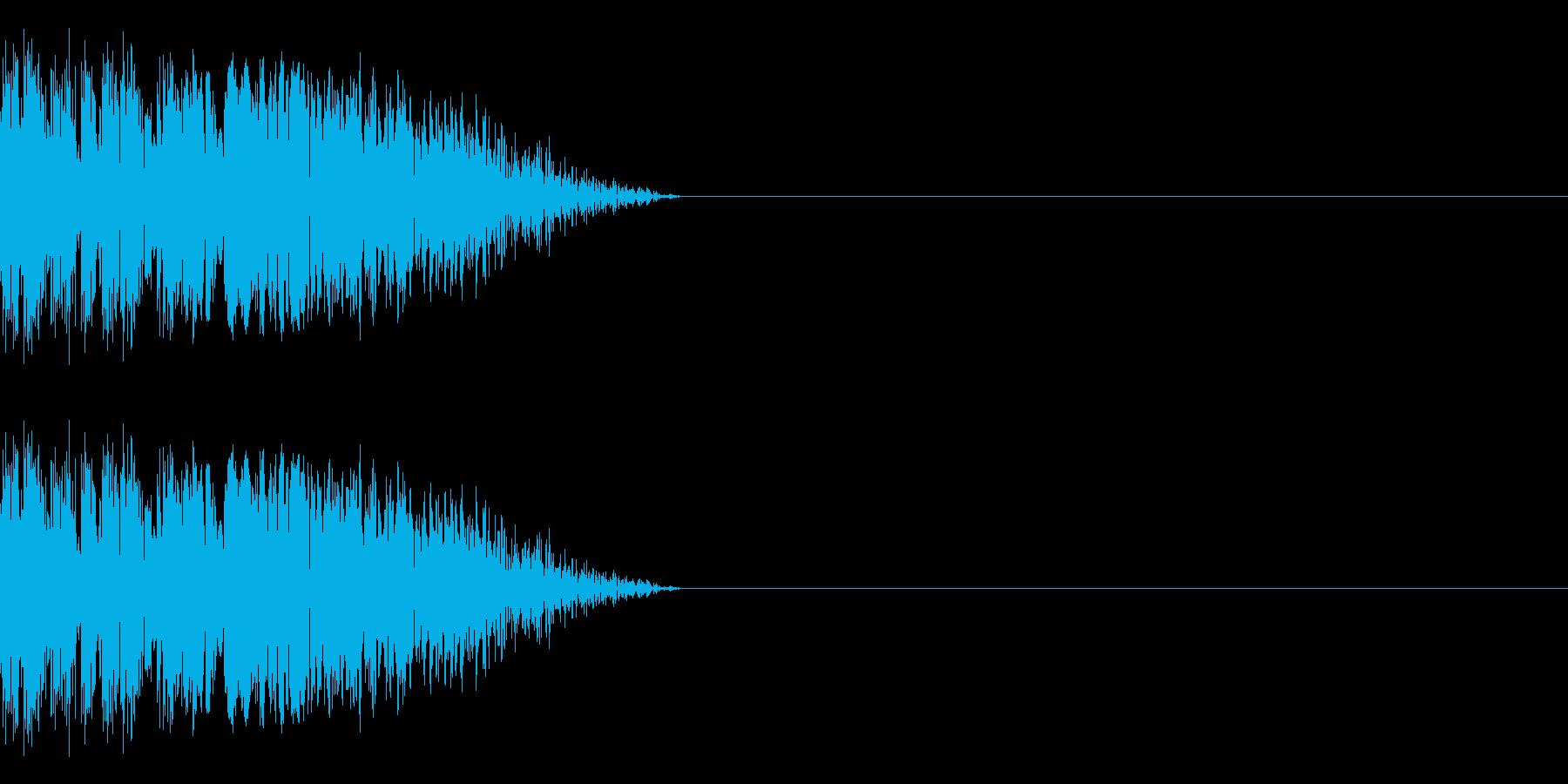 まぬけな斬撃音(ミス/剣/ナイフ)の再生済みの波形