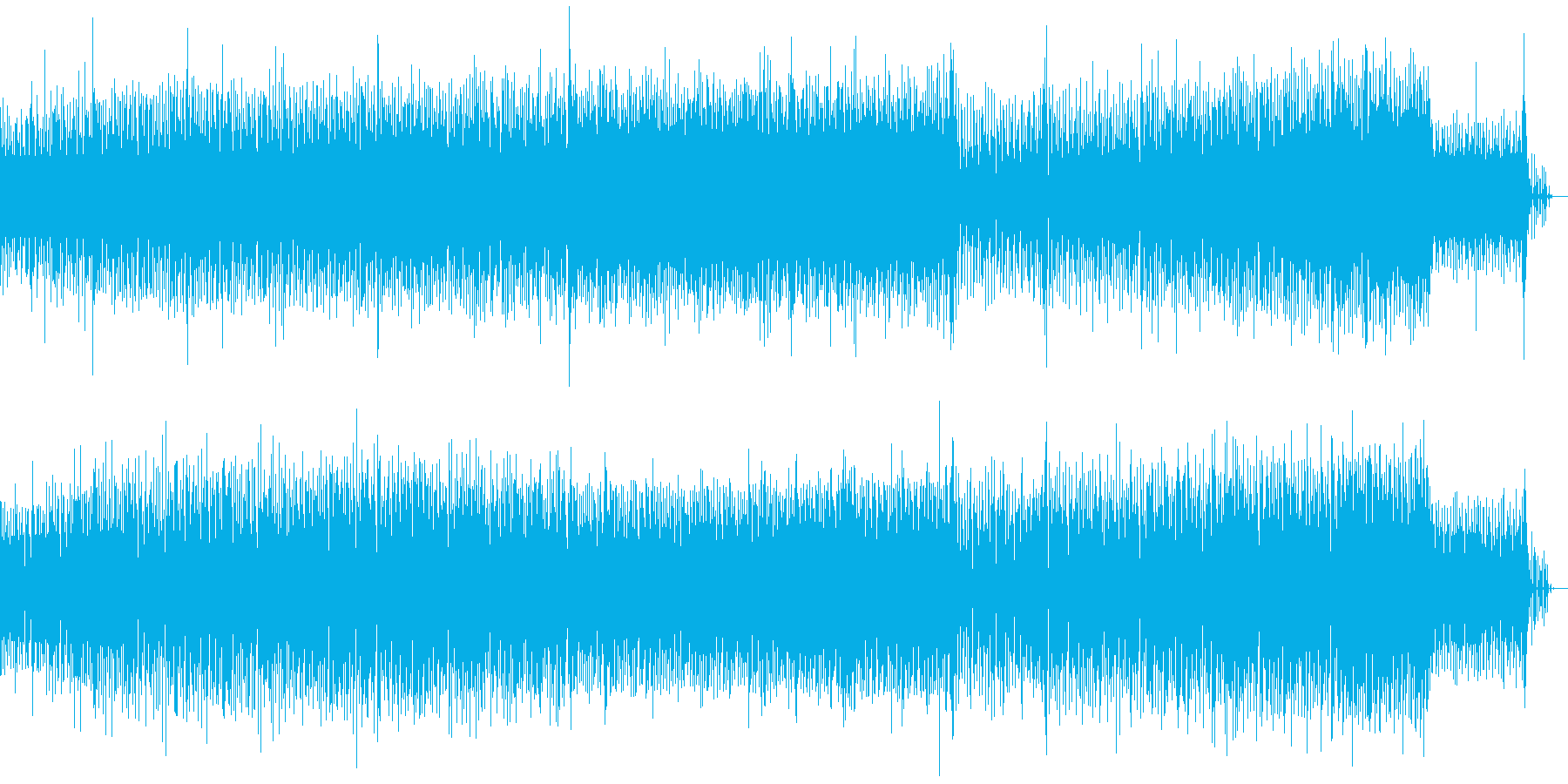 激しいテクノサウンドの再生済みの波形