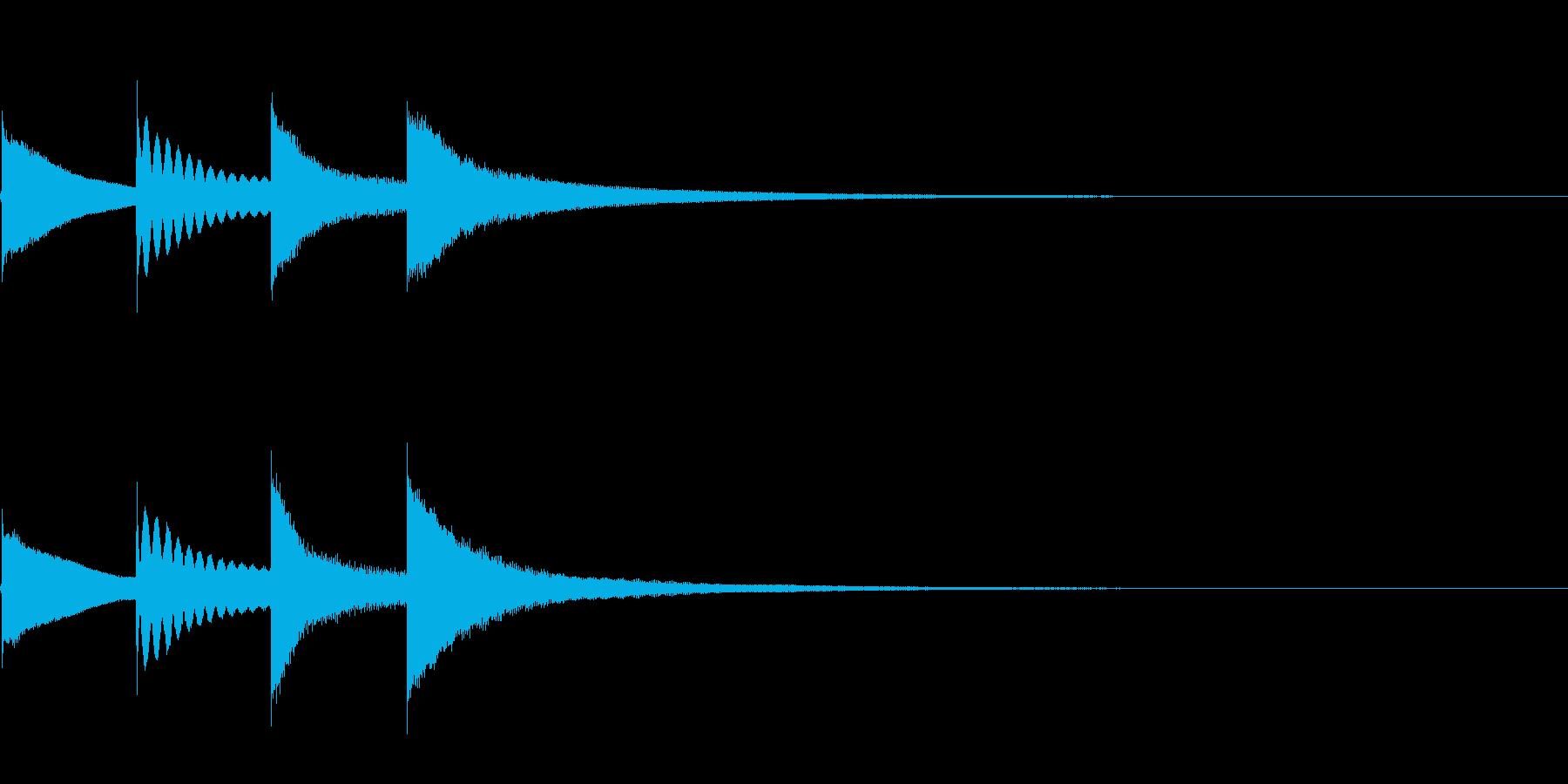 【チャイム アナウンス01-down2】の再生済みの波形