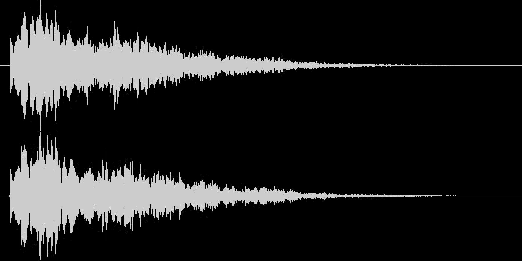空間系クリック音、ピコの未再生の波形