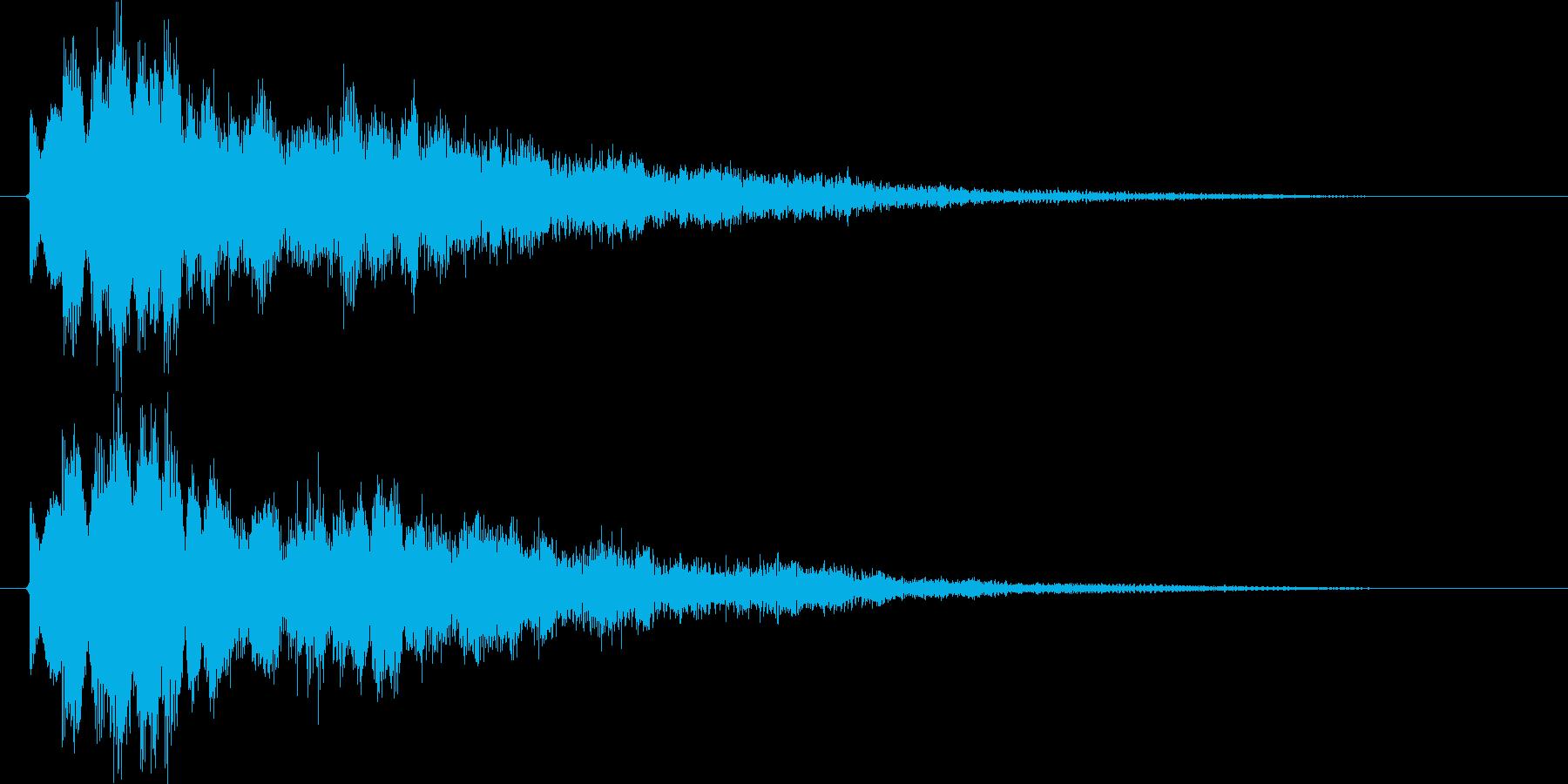空間系クリック音、ピコの再生済みの波形