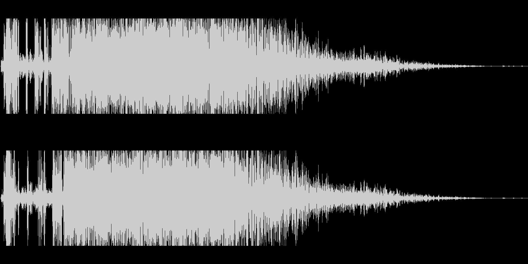 パンチ(バシッと鈍い音)の未再生の波形