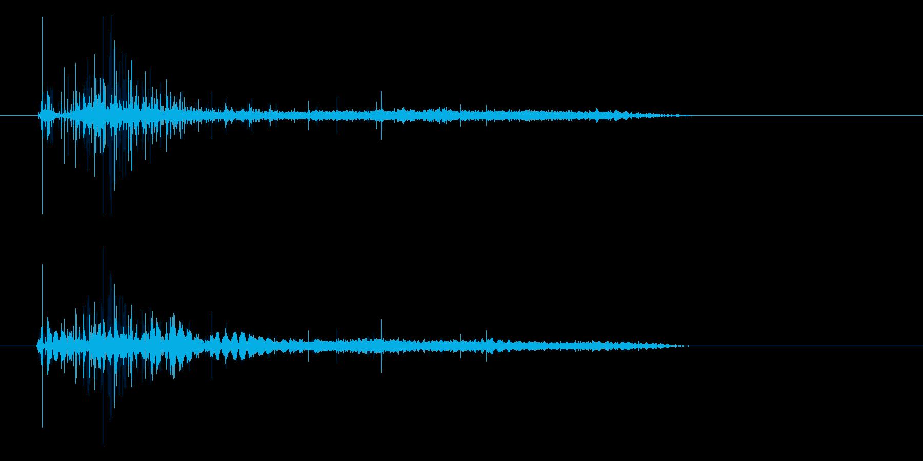 ビールや炭酸飲料をコップに注ぐ音の再生済みの波形