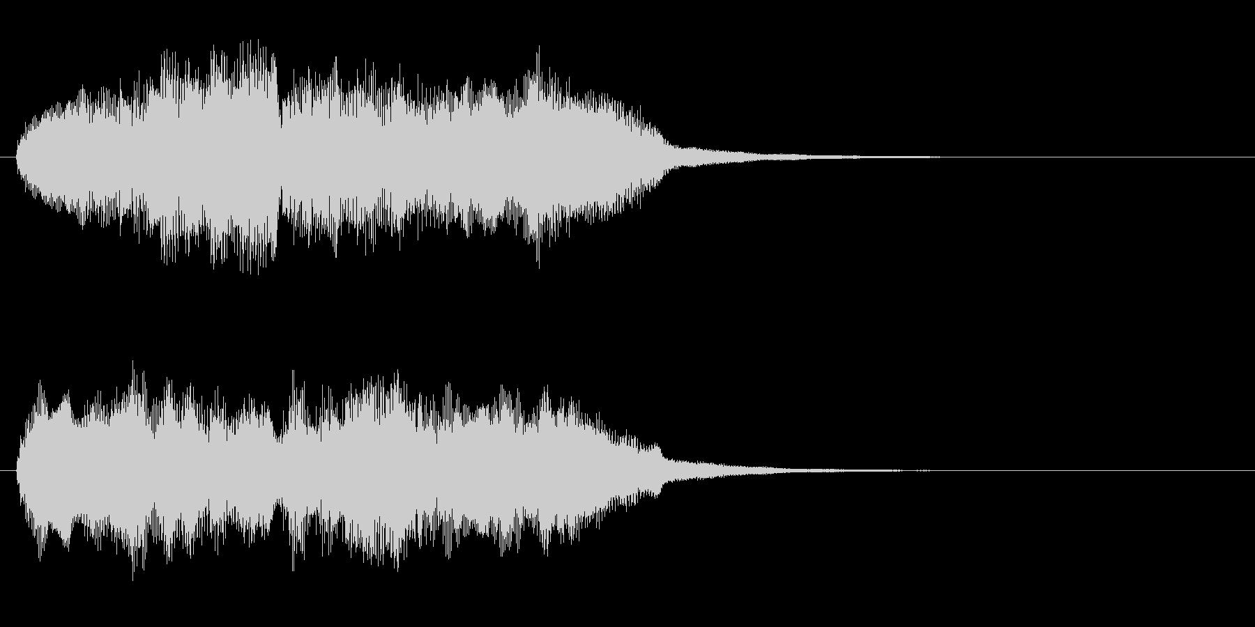 穏やかなオーケストラジングルの未再生の波形