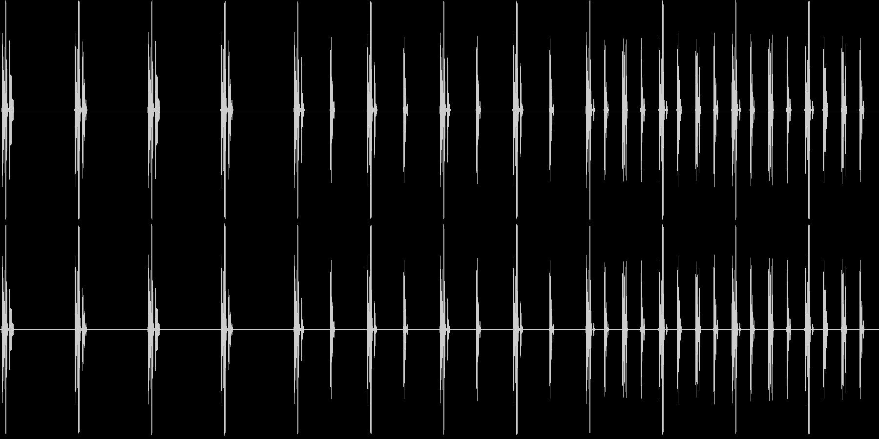 チクタクチクタク(時計、時間制限)の未再生の波形