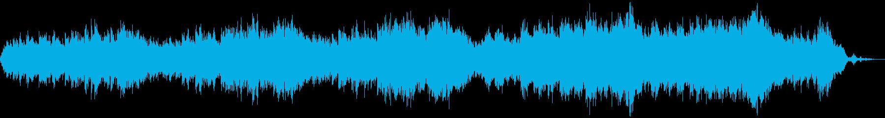 水の音と優しい歌詞のバラードの再生済みの波形