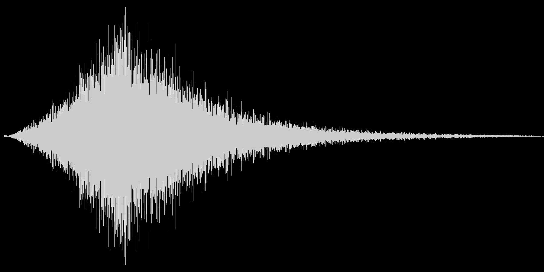 シュウォォ。ジャンプ・舞い降りる音の未再生の波形