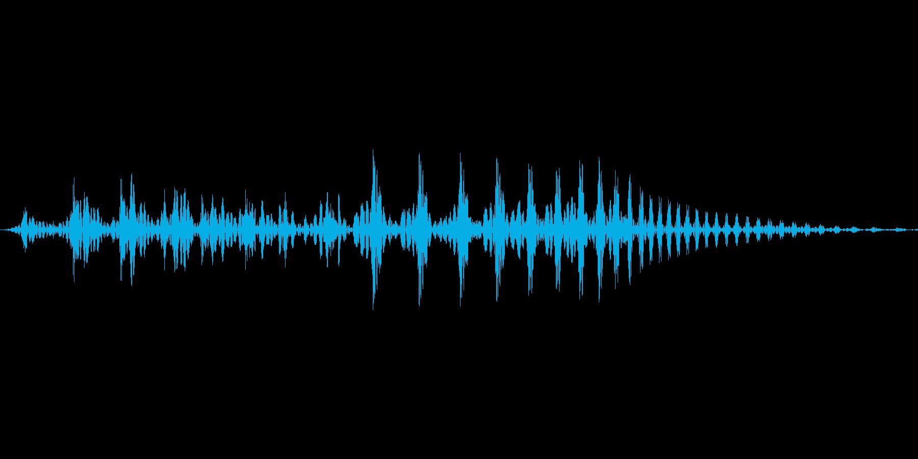コミカルなキャラクターの鳴き声等の再生済みの波形