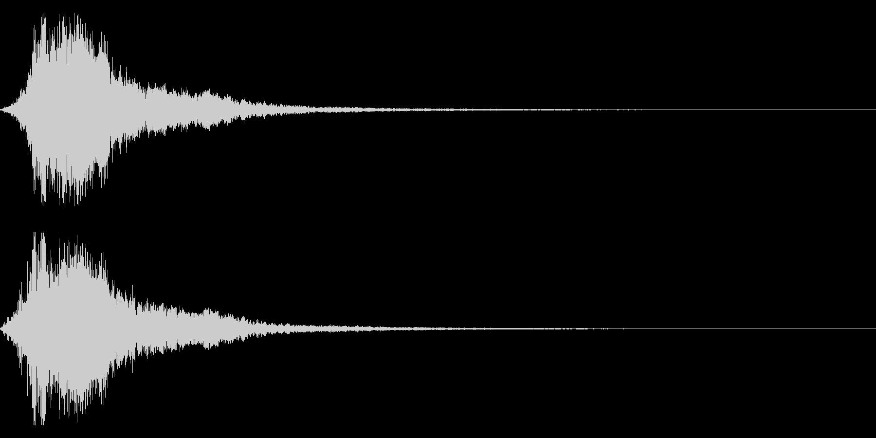 シャキーン!勢いのあるインパクト音03bの未再生の波形