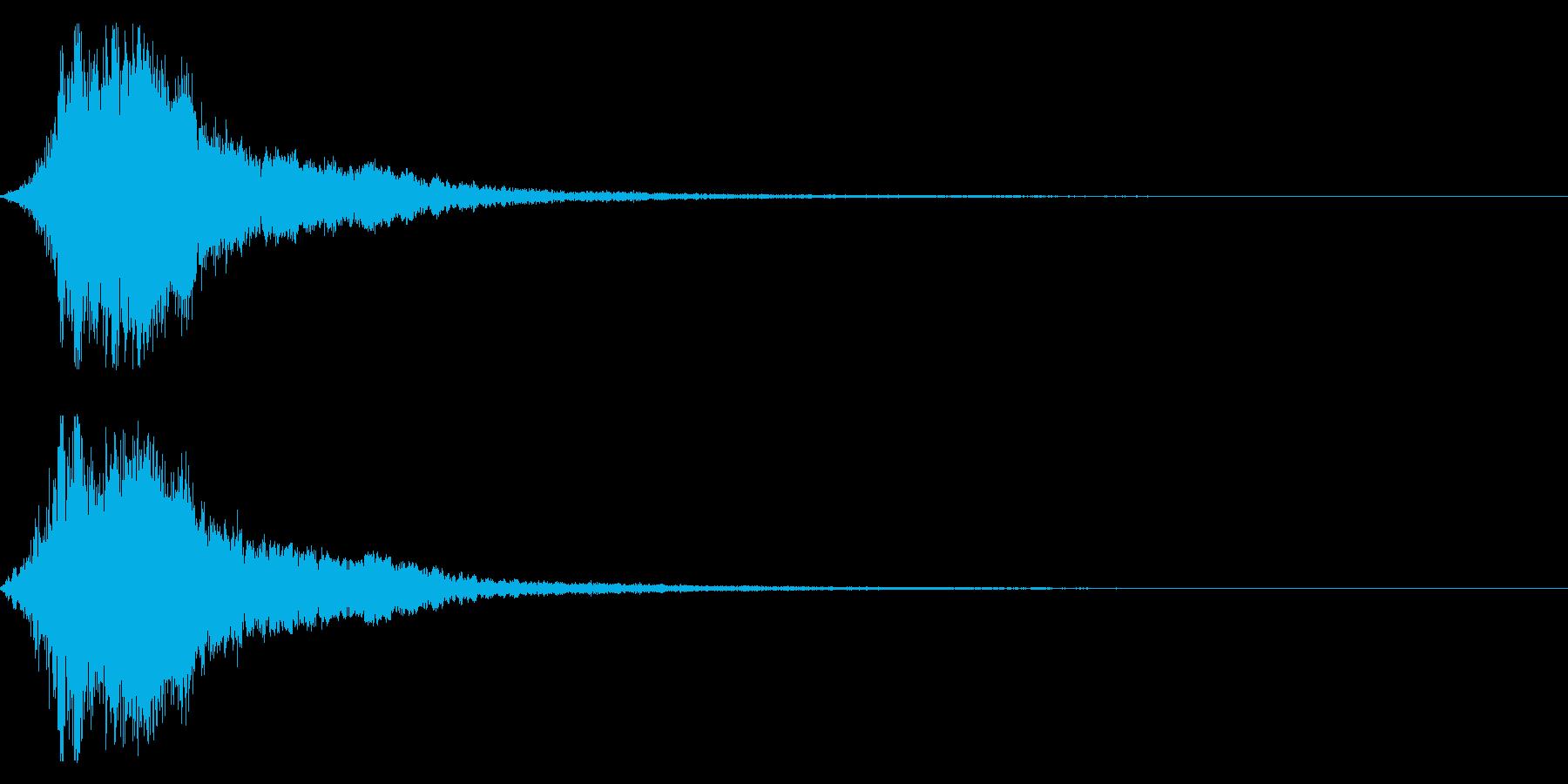 シャキーン!勢いのあるインパクト音03bの再生済みの波形