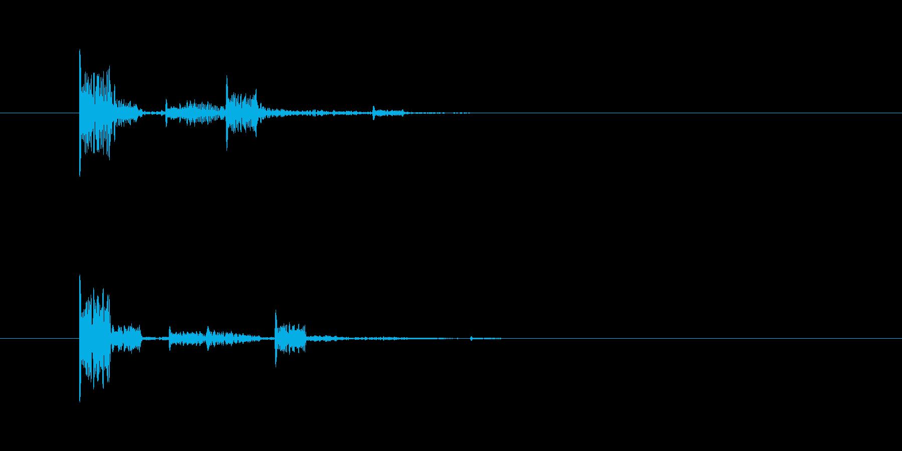 短いボタン音です。選択ボタンなど、中立…の再生済みの波形
