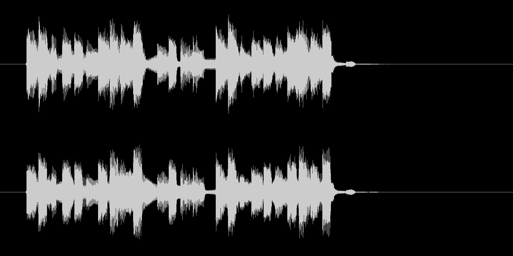 ポップで緩やかなシンセジングルの未再生の波形