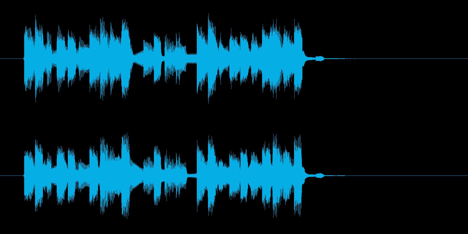 ポップで緩やかなシンセジングルの再生済みの波形