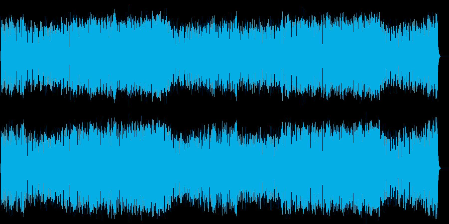 軽快で躍動感溢れるテーマ風ポップスの再生済みの波形