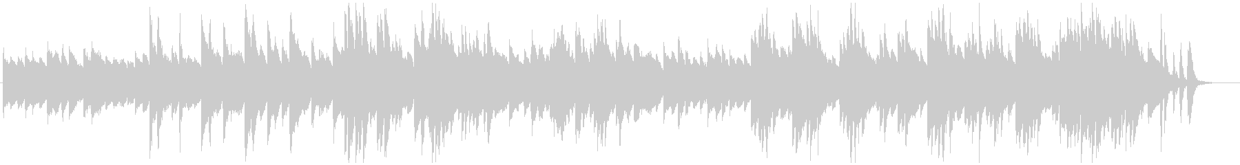 印象派風のピアノソロの未再生の波形