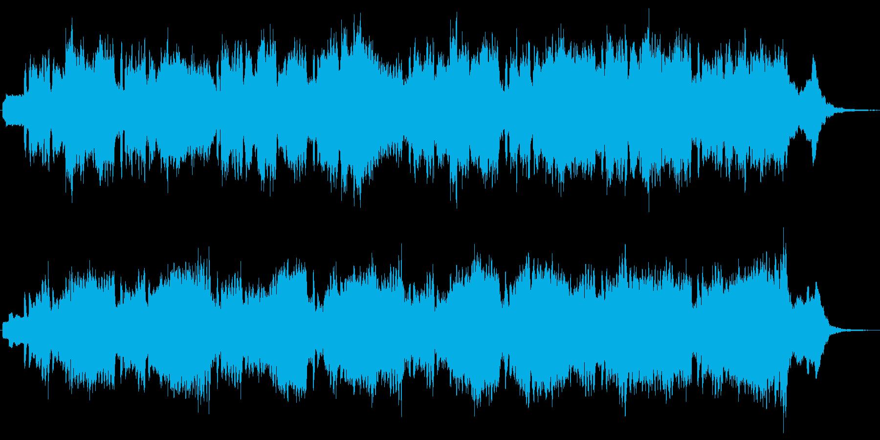 ピッコロとシンセの不思議なジングルの再生済みの波形