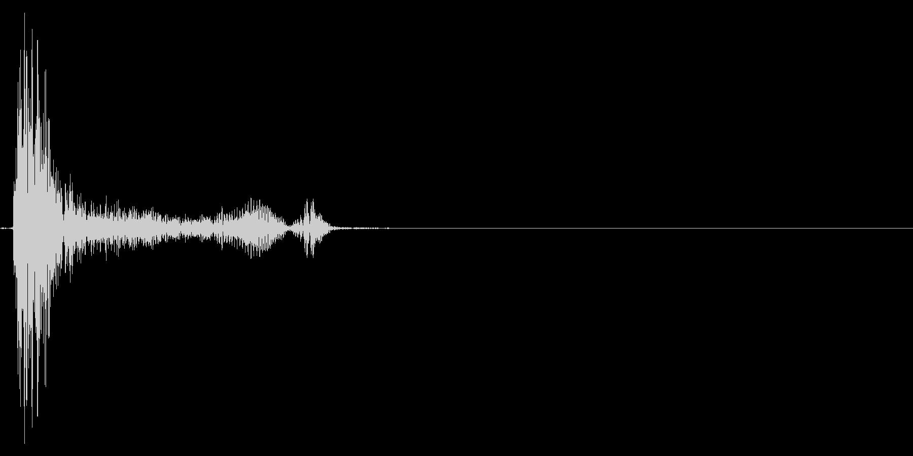 咳 ゴホッ1の未再生の波形