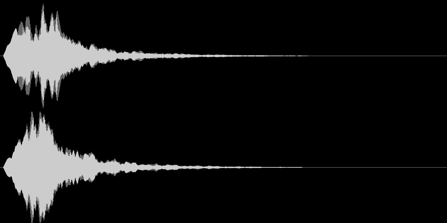 チャリラン(お知らせアラート音)の未再生の波形