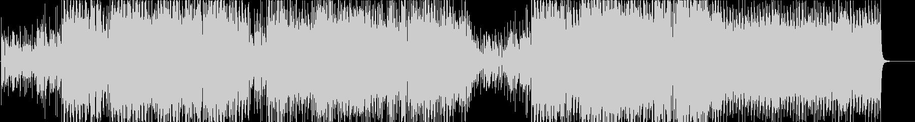 シンセサイザーイージーリスニングの音楽の未再生の波形