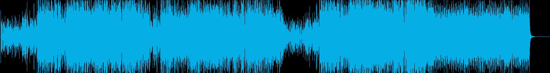 シンセサイザーイージーリスニングの音楽の再生済みの波形