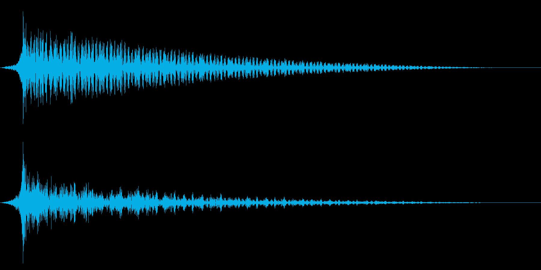 ホラー系アタック音89の再生済みの波形