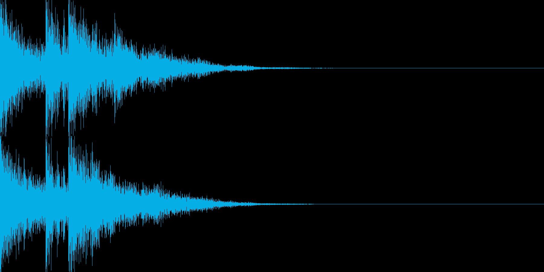 交代音02の再生済みの波形