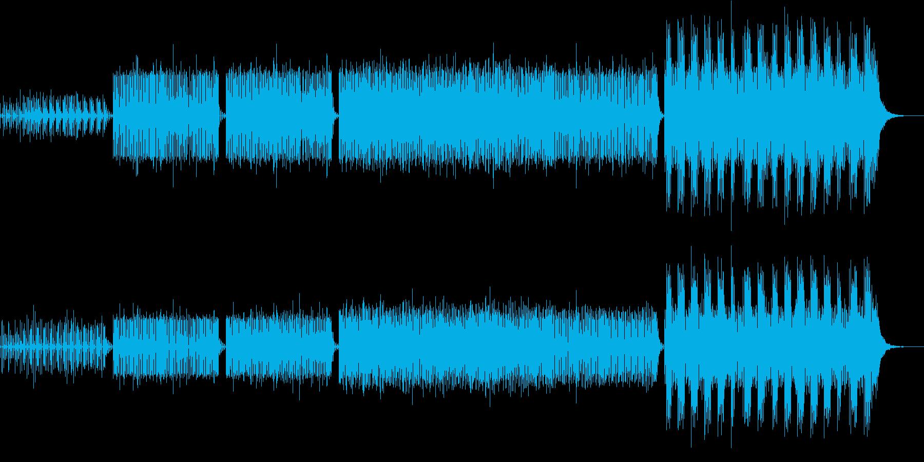 切迫感のある現代的な電子音楽の再生済みの波形