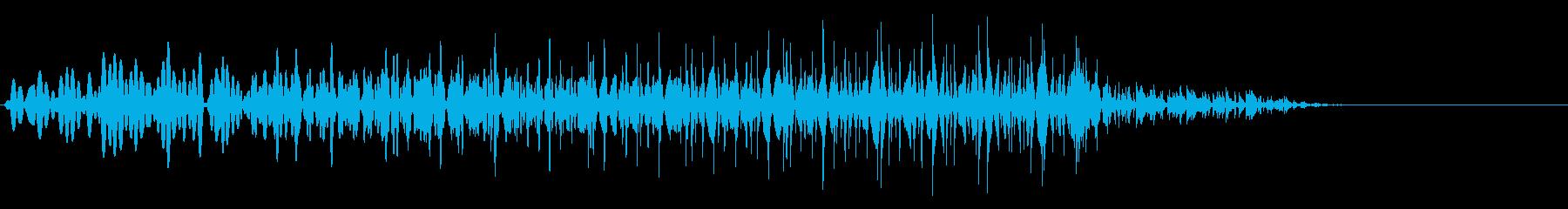 【SE 効果音】SF的な音18の再生済みの波形