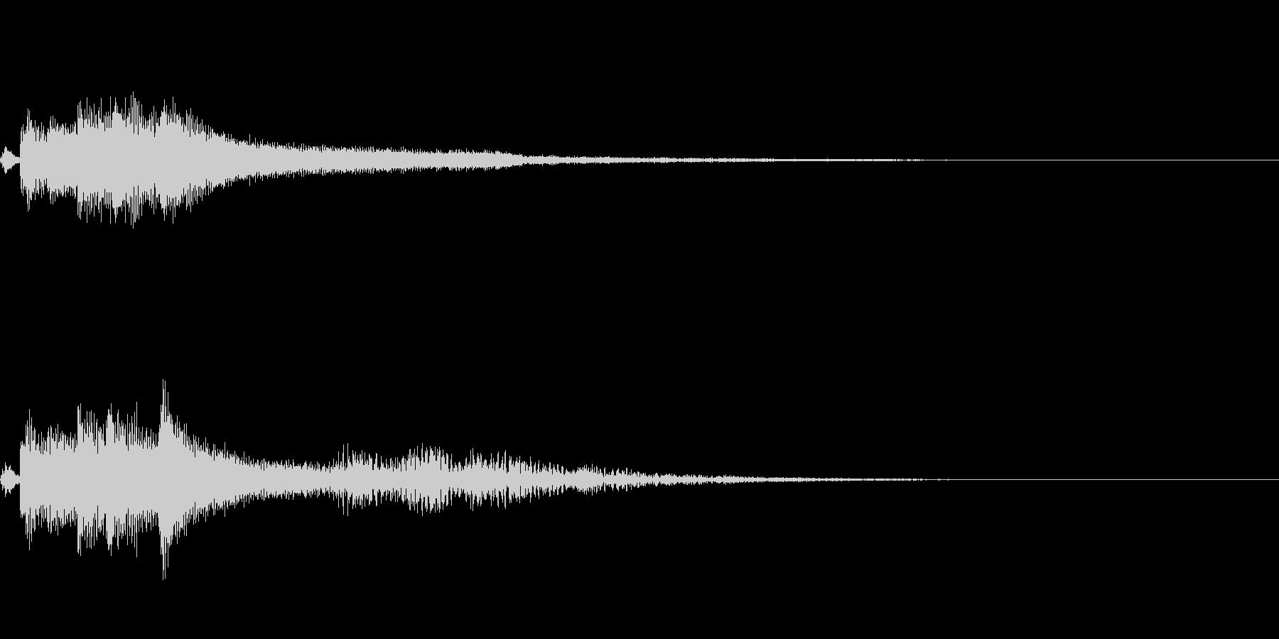 【ロゴ、ジングル】ピアノ04の未再生の波形