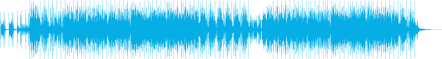 ピアノとリズムトラックによるバラードの再生済みの波形
