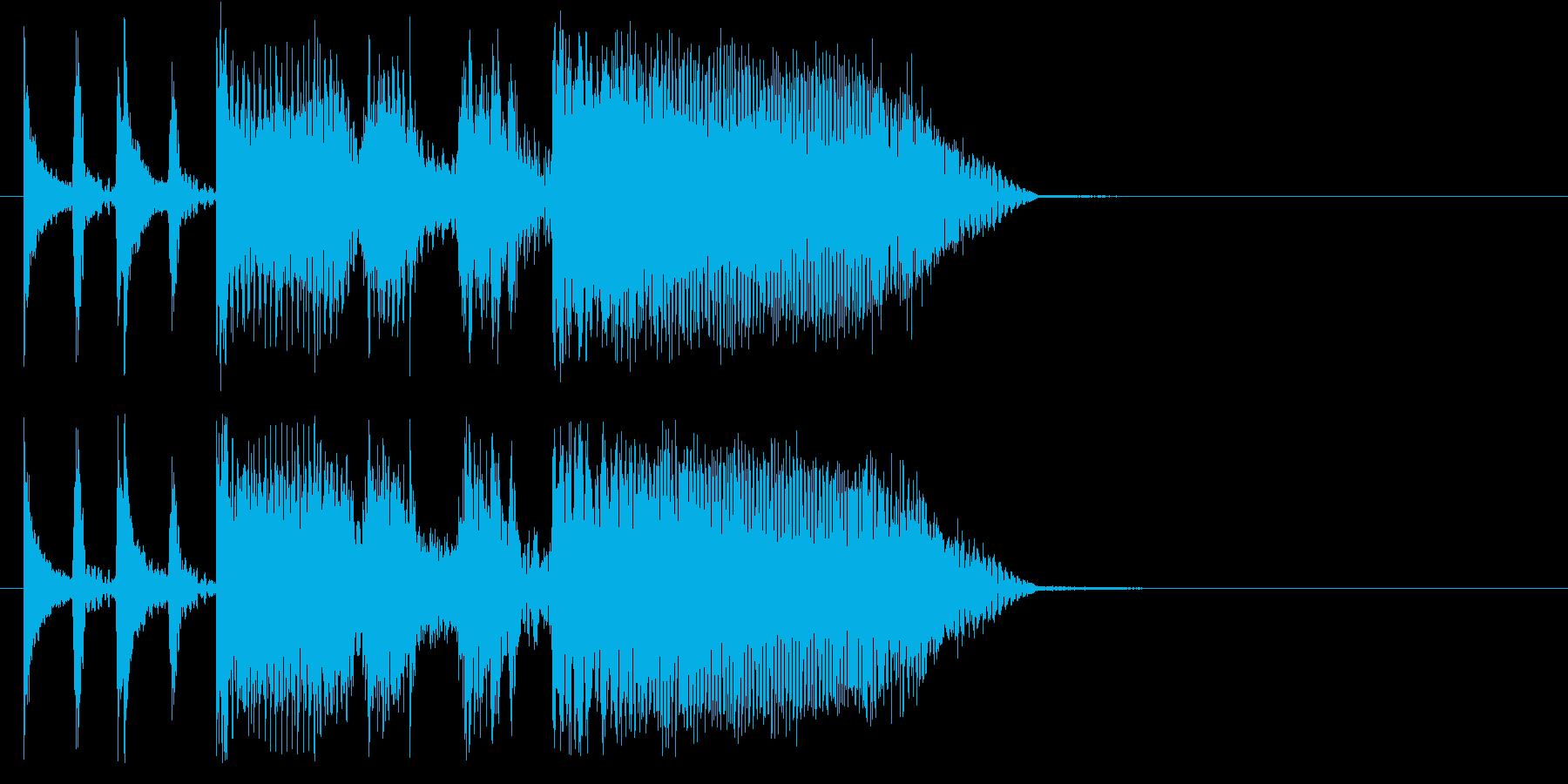 アメリカのホームコメディTV風ジングルの再生済みの波形