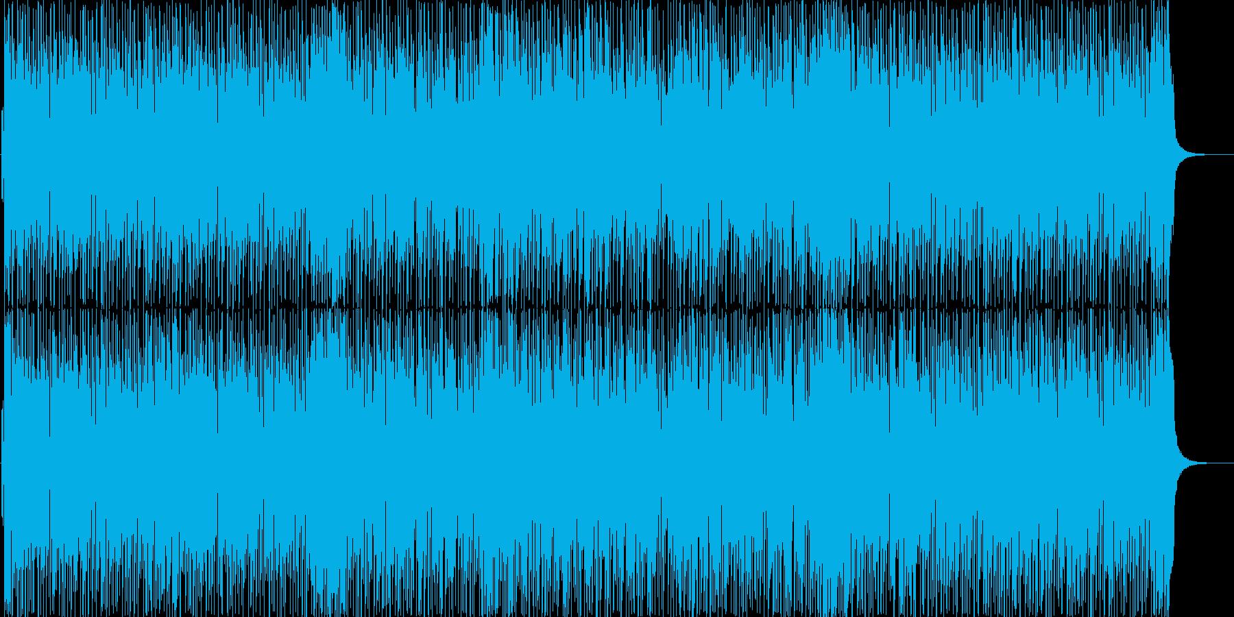 緊張感のあるギターロックの再生済みの波形