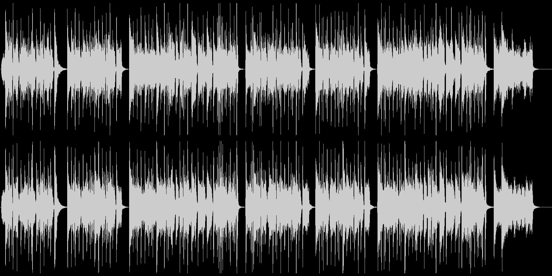 ハロウィン用おばけジャズの未再生の波形