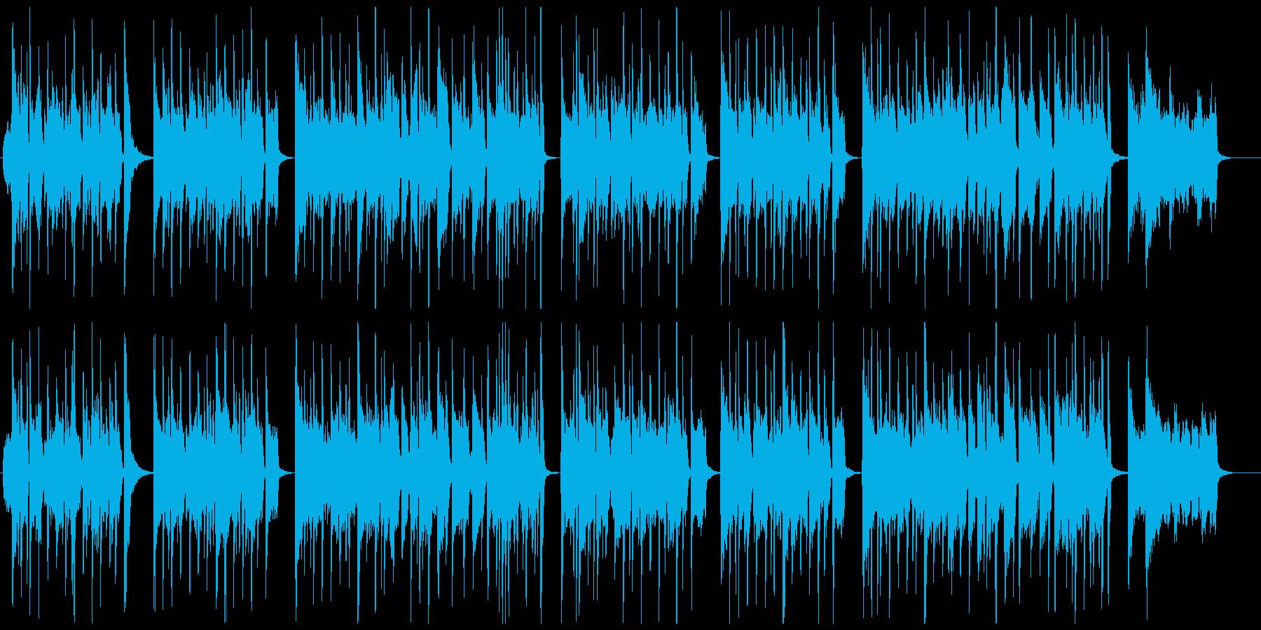 ハロウィン用おばけジャズの再生済みの波形
