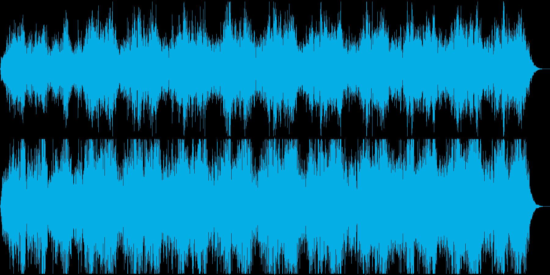 アジア風な打楽器+男性の声の再生済みの波形