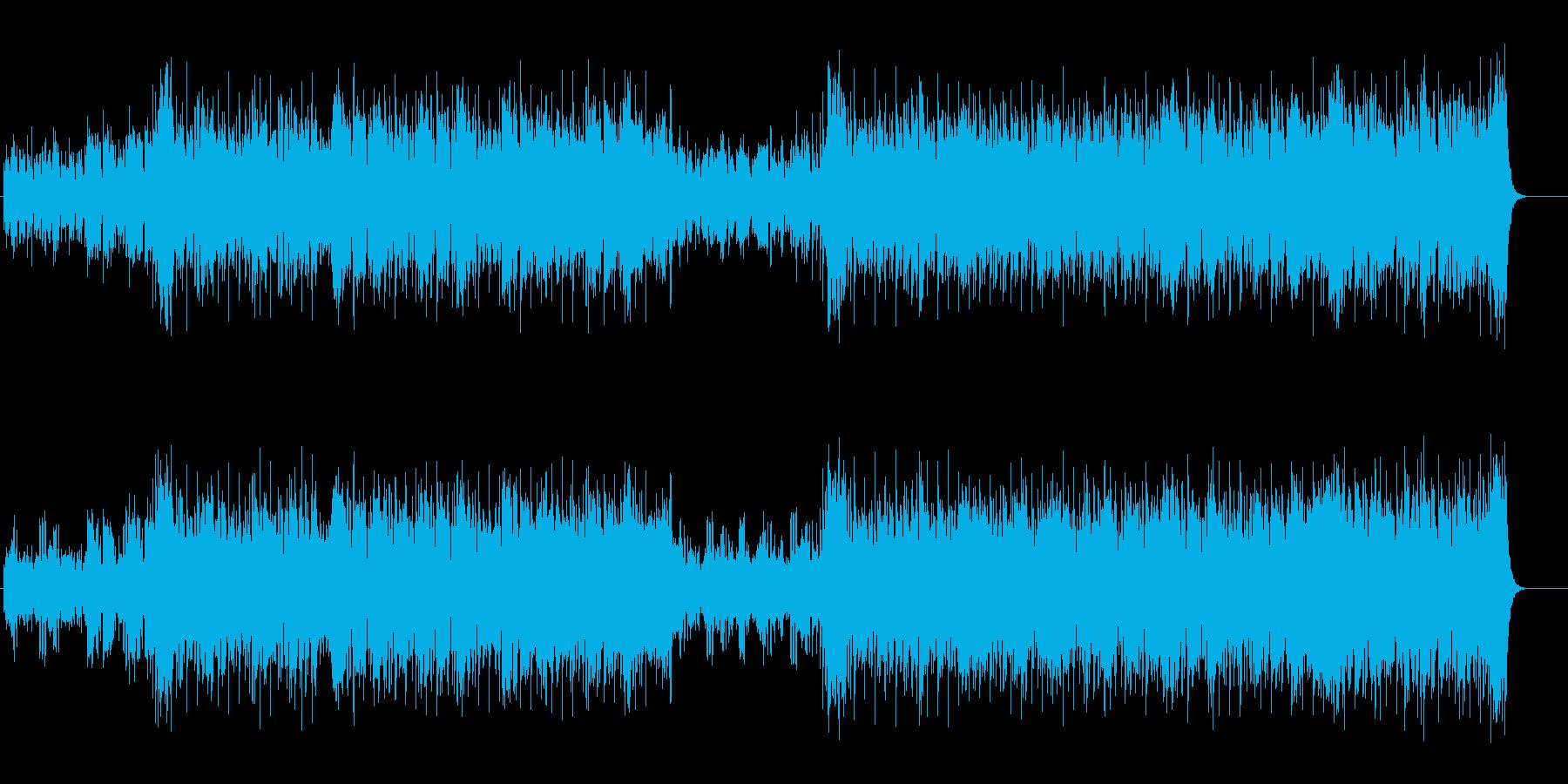 原始的で力強いファンキー・フュージョンの再生済みの波形