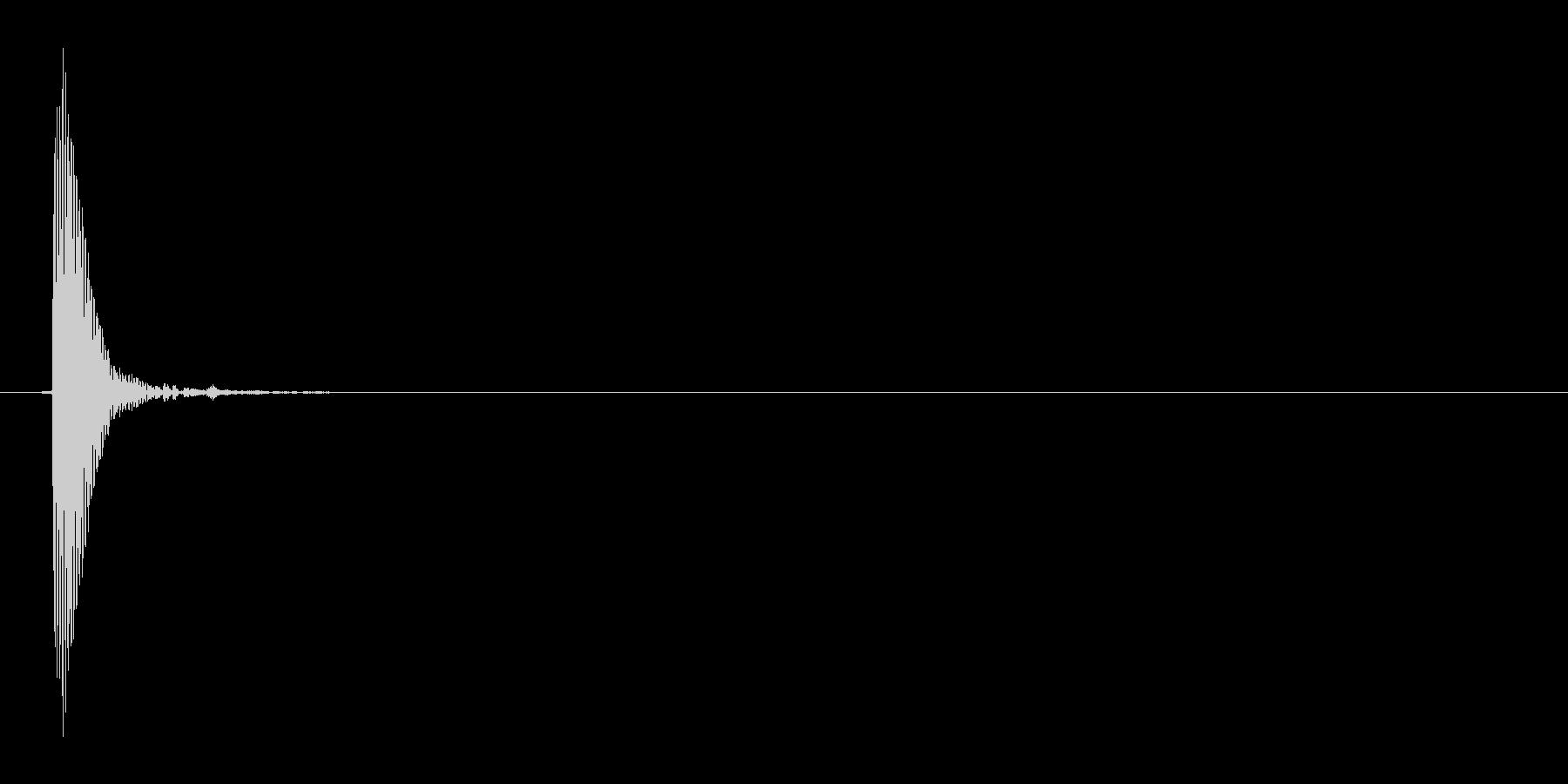 プッ(カーソル動かす音)の未再生の波形