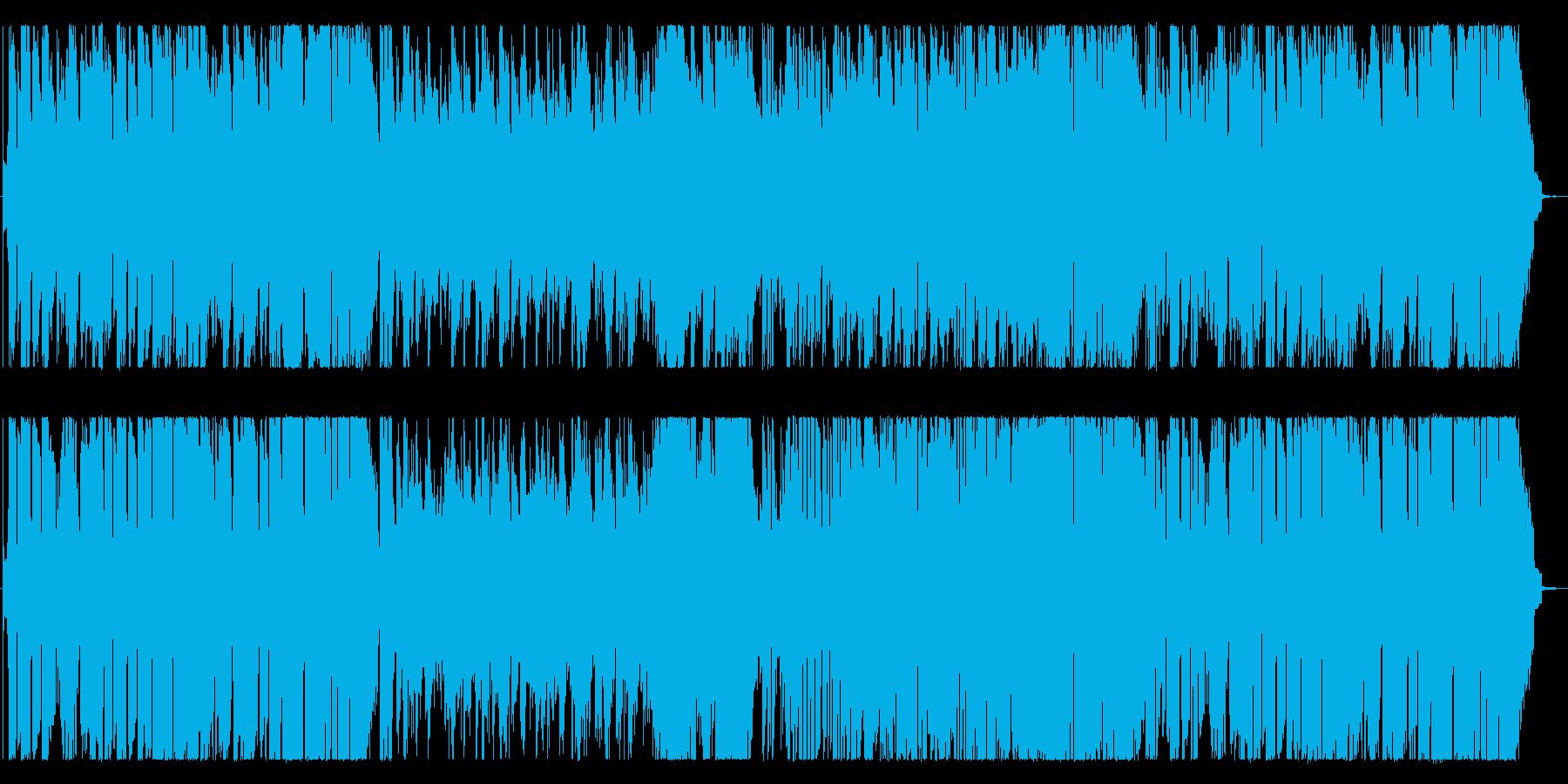 ゆったりとしたサックスとオルガンの再生済みの波形