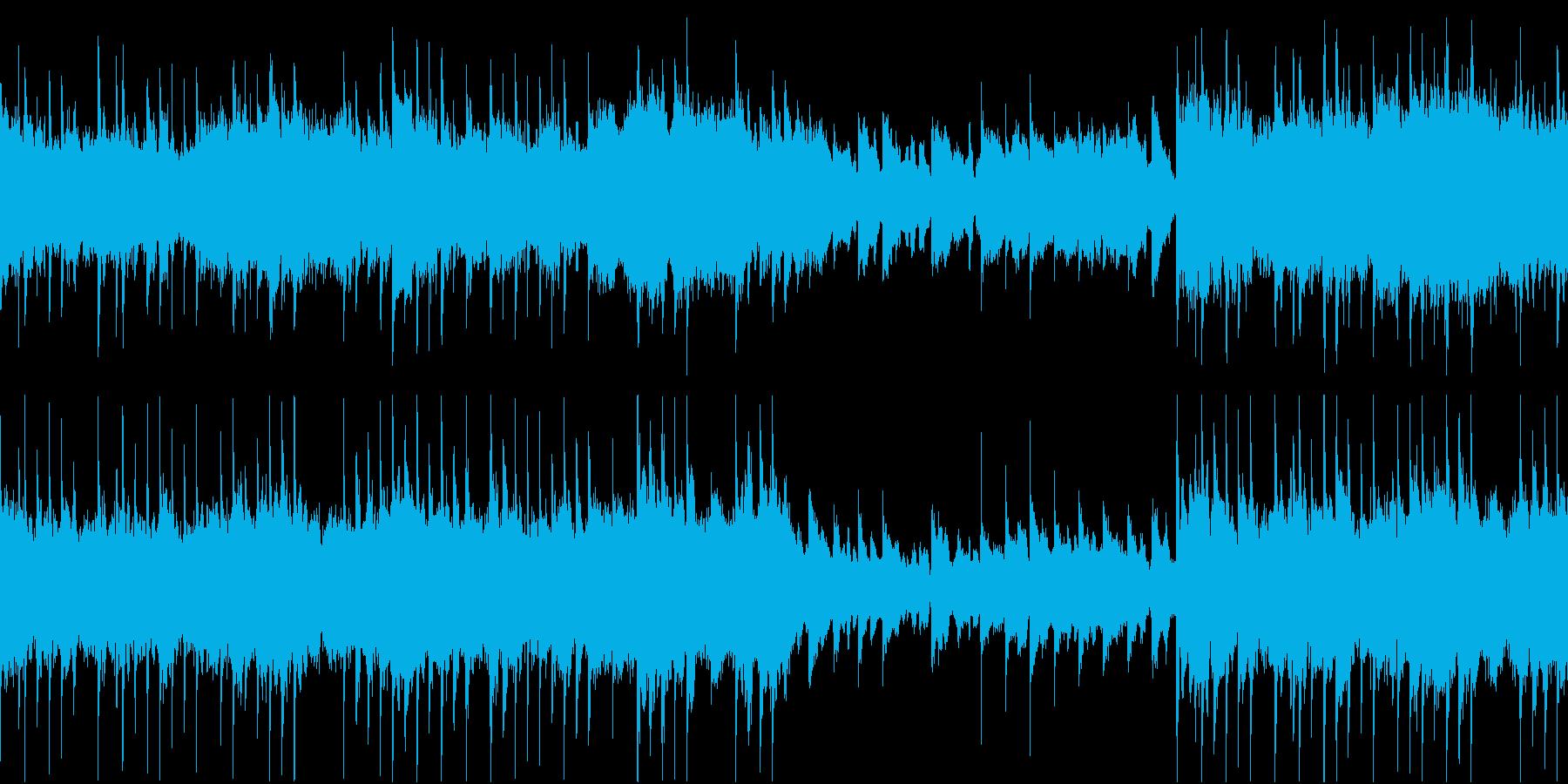 幻想的・神秘的なインスト(ループ)の再生済みの波形