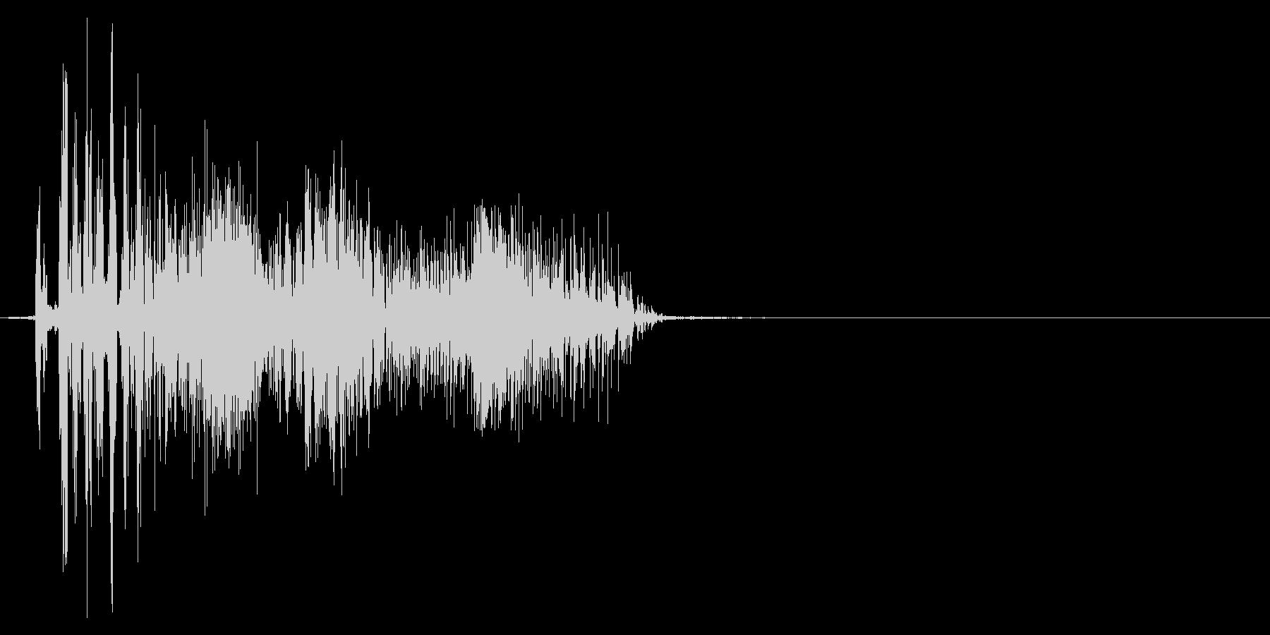 ジッパー、ファスナーを開ける音2-1の未再生の波形