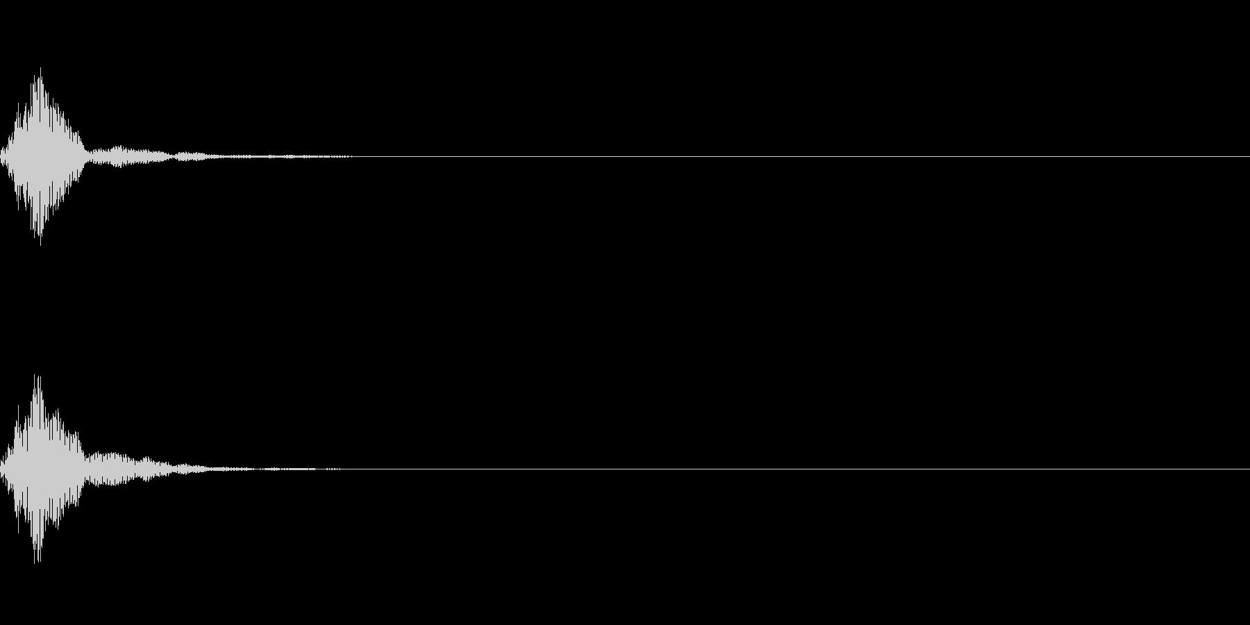 カーソル音3【ポコッ】の未再生の波形
