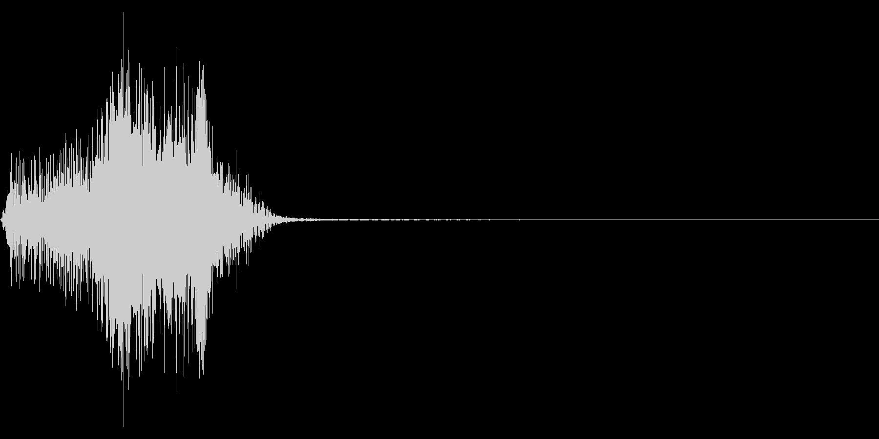 ジッパー、ファスナーを開ける音1-1の未再生の波形