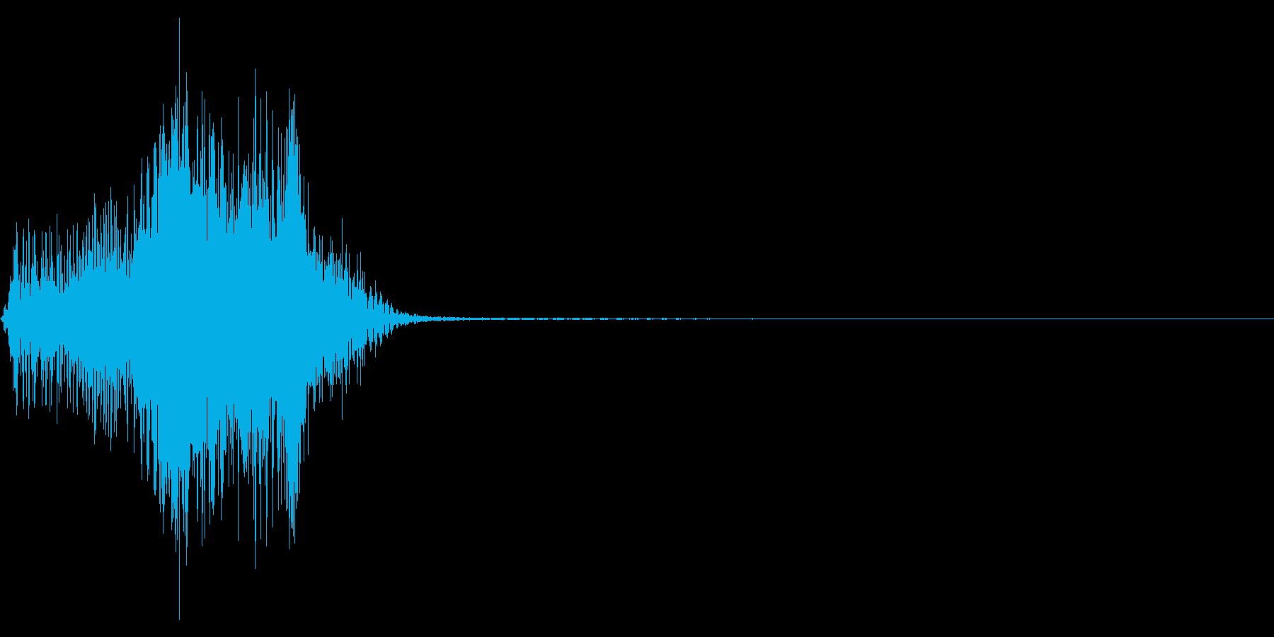 ジッパー、ファスナーを開ける音1-1の再生済みの波形