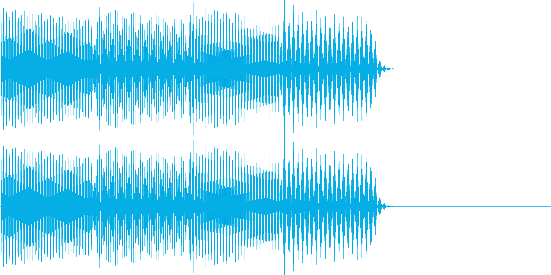 ピロロロ↓(攻撃ミス、やり直し)の再生済みの波形